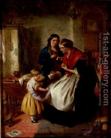Coaxing by Edward Hughes - Reproduction Oil Painting