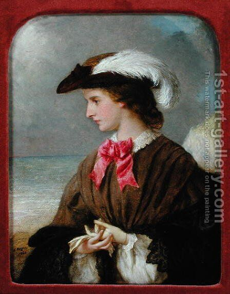 The Red Bow by Edward Hughes - Reproduction Oil Painting