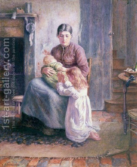 Bed Time by A. Foord Hughes - Reproduction Oil Painting