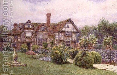 Rumwood Court Langley near Maidstone by A. Foord Hughes - Reproduction Oil Painting