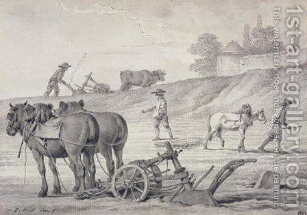 Ploughing the Fields by Jean-Baptiste Huet - Reproduction Oil Painting