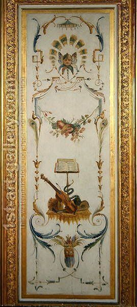 Musical instruments from La Grande Singerie by Christophe Huet - Reproduction Oil Painting