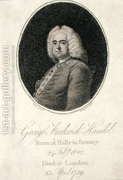 George Frederick Handel 1685-1759 2 by (after) Hudson, Thomas - Reproduction Oil Painting