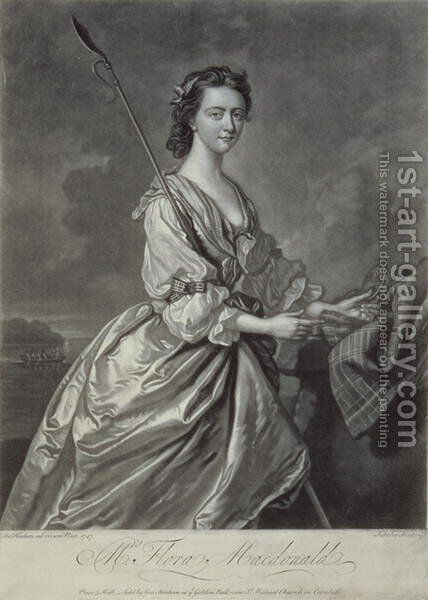Flora MacDonald 1722-90 by (after) Hudson, Thomas - Reproduction Oil Painting