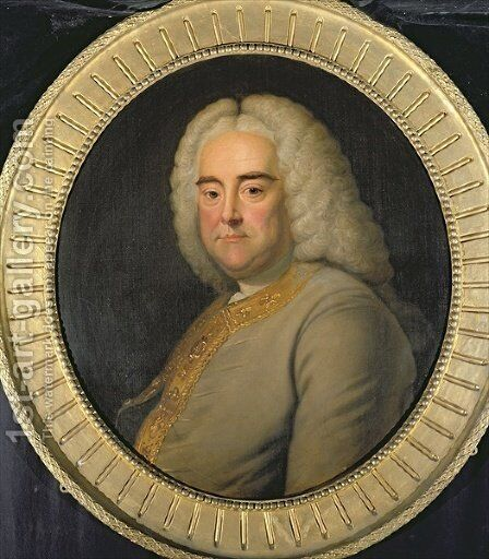 George Frederick Handel 2 by (after) Hudson, Thomas - Reproduction Oil Painting