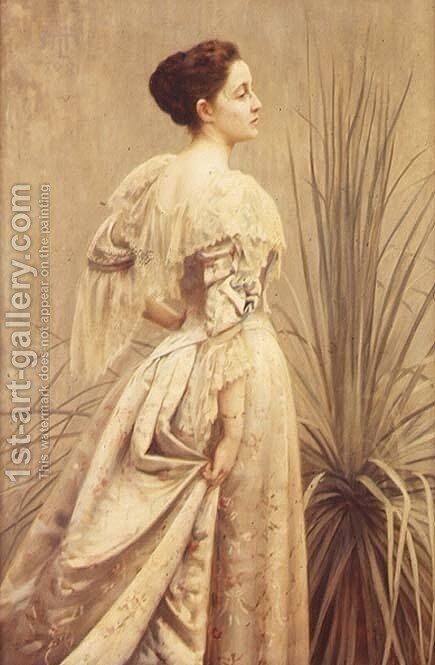 Portrait of a Lady by Henry John Hudson - Reproduction Oil Painting