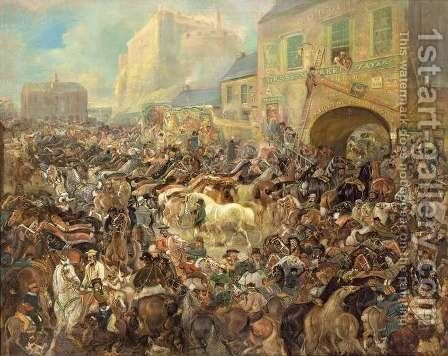 The Horse Fair in the Grass Market by James Howe - Reproduction Oil Painting