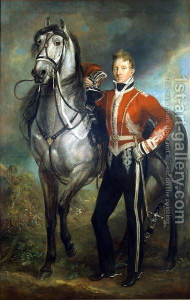 Major George Cunningham 1783-1838 by James Howe - Reproduction Oil Painting