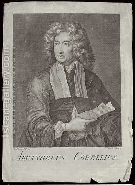 Arcangelo Corelli 1653-1713 by (after) Howard, H. - Reproduction Oil Painting
