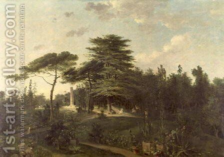The Cedar of Lebanon in the Jardin des Plantes by Jean-Pierr Houel - Reproduction Oil Painting