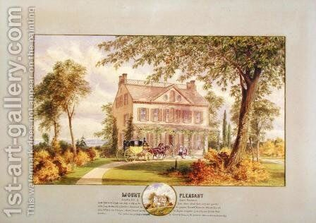 Mount Pleasant Beekman Mansion New York City by Abram Hosier - Reproduction Oil Painting