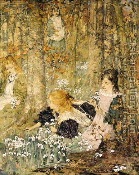 The Coming of Spring by Edward Atkinson Hornel - Reproduction Oil Painting