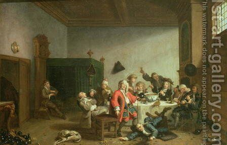 A Merry Party by Jan Jozef, the Younger Horemans - Reproduction Oil Painting