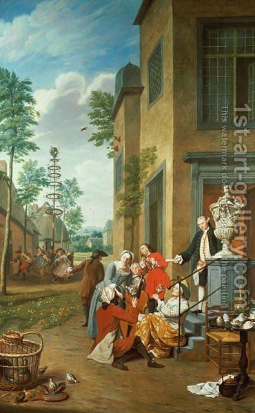 Villagers Merrymaking by Jan Jozef, the Younger Horemans - Reproduction Oil Painting