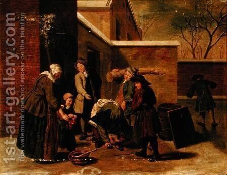 The Four Seasons Winter by Jan Jozef, the Younger Horemans - Reproduction Oil Painting
