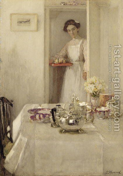 The Breakfast Table by Henry Silkstone Hopwood - Reproduction Oil Painting
