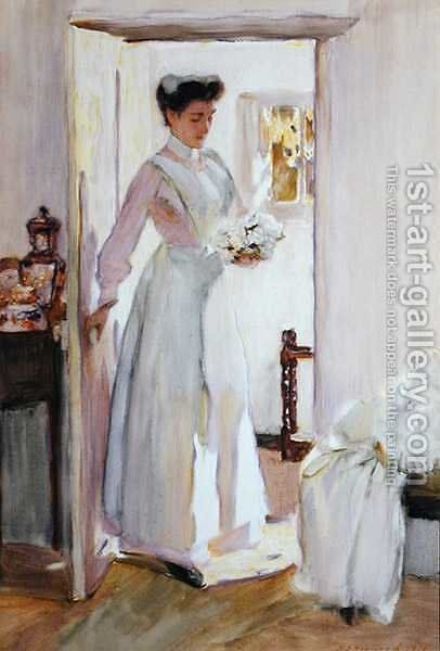 A Sunny Morning by Henry Silkstone Hopwood - Reproduction Oil Painting