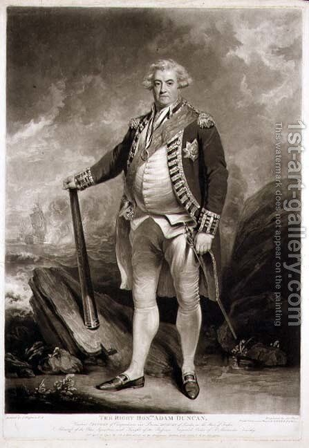 Portrait of Adam Viscount Duncan 1731-1804 Admiral of the Blue Squadron by (after) Hoppner, John - Reproduction Oil Painting