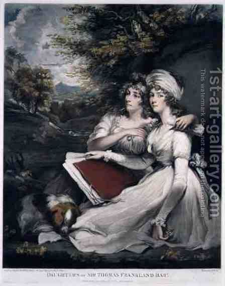 The Daughters of Sir Thomas Frankland Bart by (after) Hoppner, John - Reproduction Oil Painting