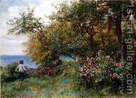 An Orchard Garden by Arthur Hopkins - Reproduction Oil Painting