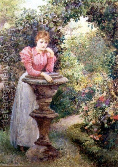 The Tryst by Arthur Hopkins - Reproduction Oil Painting