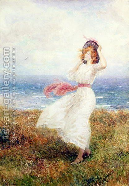 A Blow on the Cliffs by Arthur Hopkins - Reproduction Oil Painting