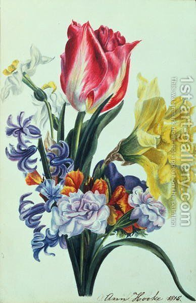 Spring Flowers by Anne Hooke - Reproduction Oil Painting