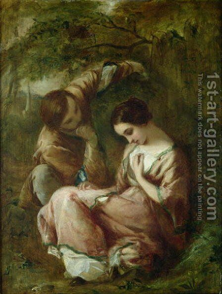 First Whisper by James Clarke Hook - Reproduction Oil Painting