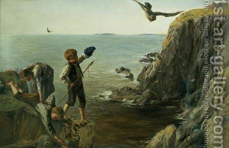 The Bonxie Shetland by James Clarke Hook - Reproduction Oil Painting