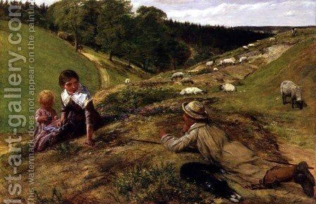 Colin thou kenst the southerne shepheards boye by James Clarke Hook - Reproduction Oil Painting