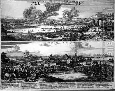 Dutch Attack on the River Medway by (after) Hooghe, Romeyn de - Reproduction Oil Painting