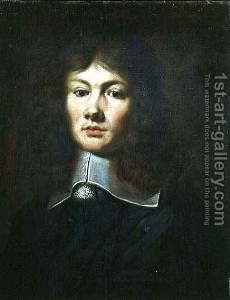Portrait of Prince Rupert 1619-82 as a Boy by (after) Honthorst, Gerrit van - Reproduction Oil Painting
