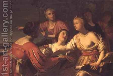 Diana and her Nymphs by (after) Honthorst, Gerrit van - Reproduction Oil Painting