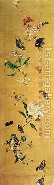 One Hundred Butterflies Flowers and Insects by Chen Hongshou - Reproduction Oil Painting