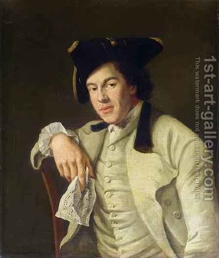 Portrait of Charles Lee Lewis 1740-1803 by Nathaniel Hone - Reproduction Oil Painting