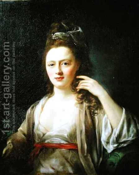Portrait of a Lady 2 by Nathaniel Hone - Reproduction Oil Painting