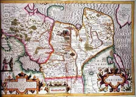Map of Tartaria from Mercators Atlas by Jodocus Hondius - Reproduction Oil Painting