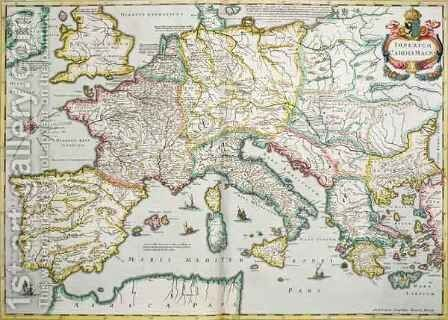 The Empire of Charlemagne 742-814 by Hendrik I Hondius - Reproduction Oil Painting