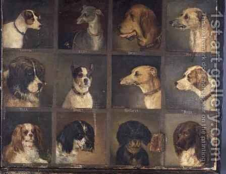 Twelve Favourite Dogs by Edwin Frederick Holt - Reproduction Oil Painting