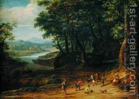Landscape by Johann Holst - Reproduction Oil Painting