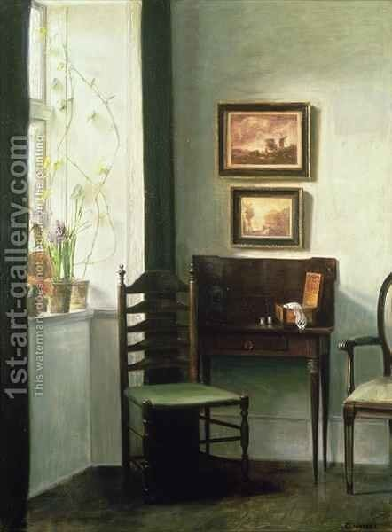 Sunlit Interior by Carl Vilhelm Holsoe - Reproduction Oil Painting