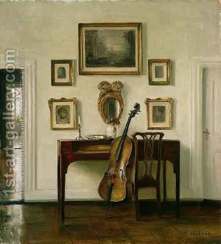 The Music Room by Carl Vilhelm Holsoe - Reproduction Oil Painting