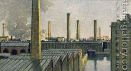 Seven Chimneys by Charles Holmes - Reproduction Oil Painting