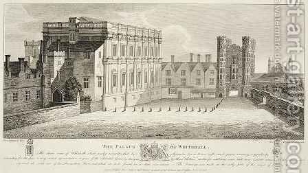 The Palace of Whitehall from a drawing in the Pepysian Library Cambridge by (after) Hollar, Wenceslaus - Reproduction Oil Painting