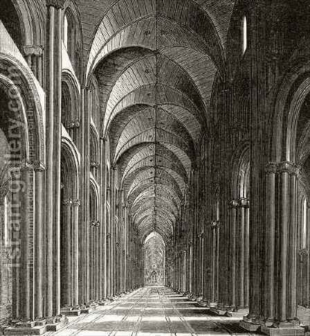 Interior of the Nave of St Pauls by (after) Hollar, Wenceslaus - Reproduction Oil Painting