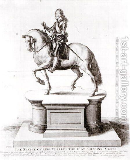 The statue of King Charles the 1st at Charing Cross by Wenceslaus Hollar - Reproduction Oil Painting
