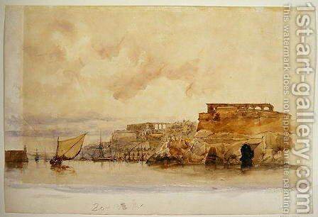 View of Valetta Malta by James Holland - Reproduction Oil Painting