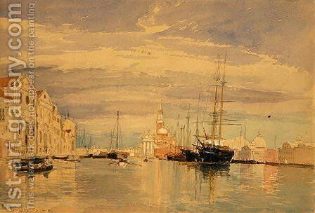 The Giudecca with S Giorgio Maggiore Venice by James Holland - Reproduction Oil Painting