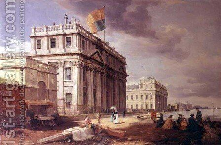 Greenwich hospital painting by james holland reproduction st
