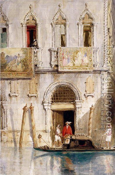 The Steps of the Palazzo Foscari Venice by James Holland - Reproduction Oil Painting